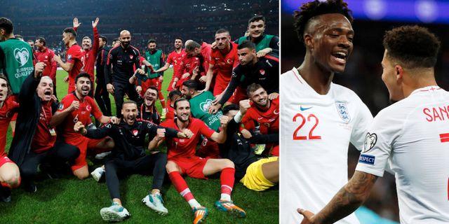 Turkiet och England jublar. Bildbyrån