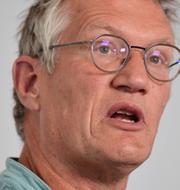 Anders Tegnell/Vårdpersonal/Björn Olsen.  TT