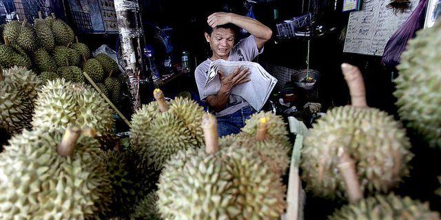 Durianförsäljare.  TT