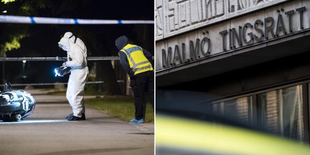 Bild från brottsplatsundersökningen under förra året/Malmö tingsrätt. TT