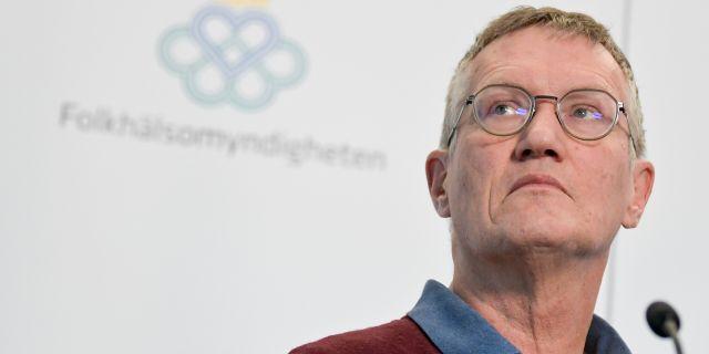 Anders Tegnell på dagens pressträff. Janerik Henriksson/TT / TT NYHETSBYRÅN