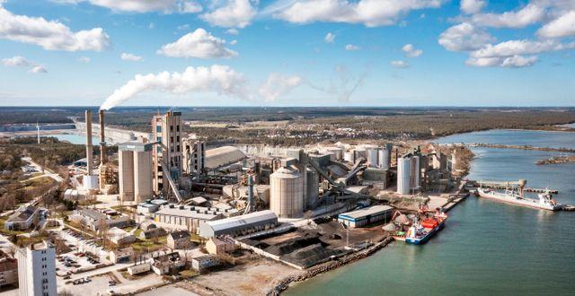 Cementas fabrik i Slite, Gotland.  Joakim Kroger / TT NYHETSBYRÅN