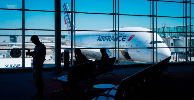 Illustrationsbild från flygplats i Paris.  JOEL SAGET / TT NYHETSBYRÅN