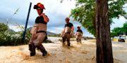 Militärer på väg för att evakuera människor i byn Redovan. JOSE JORDAN / AFP