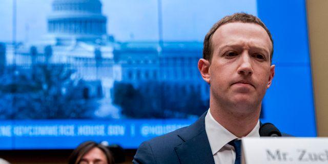 Mark Zuckerberg, Facebooks vd. Andrew Harnik / TT NYHETSBYRÅN