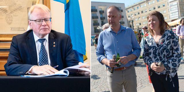Hultqvist, Sjöstedt, Björk. Arkivbilder. TT
