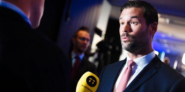 Johan Forssell (M). Hanna Franzén/TT / TT NYHETSBYRÅN
