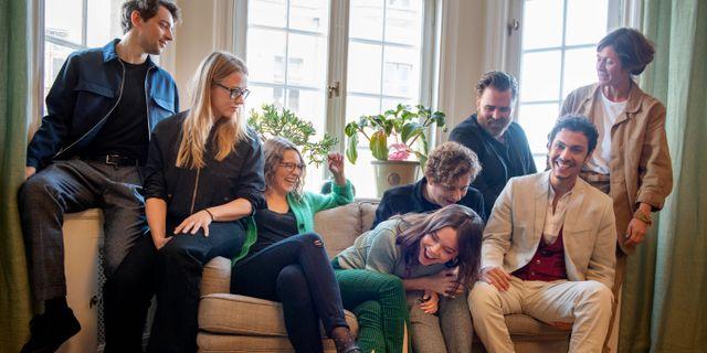 """Skådespelarna i SVT-serien """"Vår tid är nu"""" inför den andra säsongen.  Jessica Gow/TT / TT NYHETSBYRÅN"""