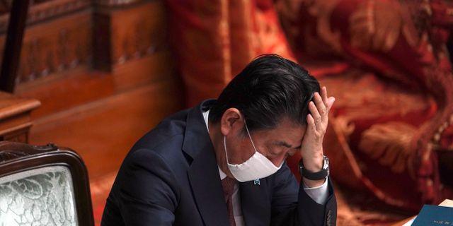 Shinzo Abe. Eugene Hoshiko / TT NYHETSBYRÅN