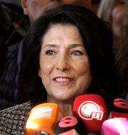 Salomé Zurabishvili vann presidentvalet i Georgien.  Shakh Aivazov / TT NYHETSBYRÅN