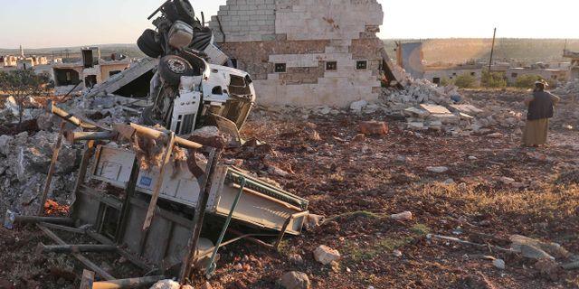 Idlibprovinsen efter bombningar den 19 maj. OMAR HAJ KADOUR / AFP