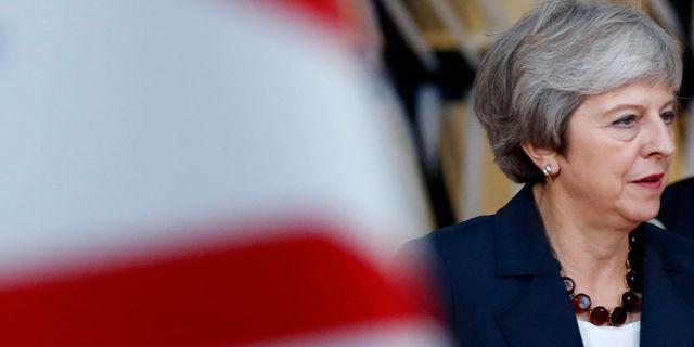 Brittiska premiärministern Theresa May.  Alastair Grant / TT NYHETSBYRÅN