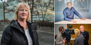 Stora bilden: Annika Alexius, professor vid Stockholms universitet. Lilla bilden högst upp till höger: Lars Jonung, professor vid Lunds universitet. Lilla bilden nere till höger: John Hassler, professor i nationalekonomi.  TT