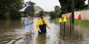 Översvämningar i staden Townsville i Queensland. STRINGER / TT NYHETSBYRÅN