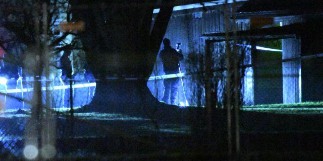 Polisen på plats i Segevång. Johan Nilsson/TT / TT NYHETSBYRÅN