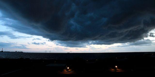 Arkivbild, regn över Öresund. Johan Nilsson/TT / TT NYHETSBYRÅN