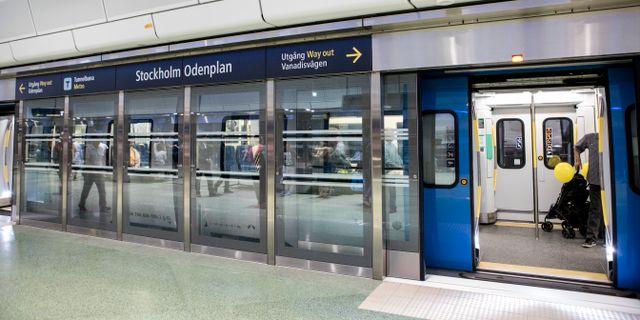 Plattformsbarriär vid station City. Christine Olsson/TT / TT NYHETSBYRÅN