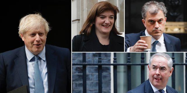 Boris Johnson, Nicky Morgan, Julian Smith och Geoffrey Cox. TT