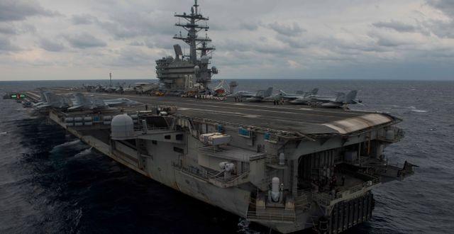 Arkivbild: USS Ronald Reagan i Filippinska havet KENNETH ABBATE / Navy Media Content Operations