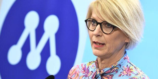 M:s ekonomiskpolitiska talesperson Elisabeth Svantesson.  Claudio Bresciani/TT / TT NYHETSBYRÅN