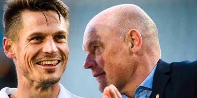 Markus Rosenberg och Uwe Rösler. LUDVIG THUNMAN / BILDBYRÅN