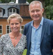 Carl-Erik Lagercrantz med hustrun Louise Boije af Gennäs. Maja Suslin/TT / TT NYHETSBYRÅN