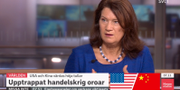 Ann Linde i Morgonstudion. SVT
