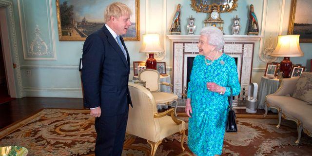 Boris Johnson träffar drottning Elizabeth den 29 augusti. POOL New / TT NYHETSBYRÅN