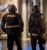 Polis i Trier. Michael Probst / TT NYHETSBYRÅN