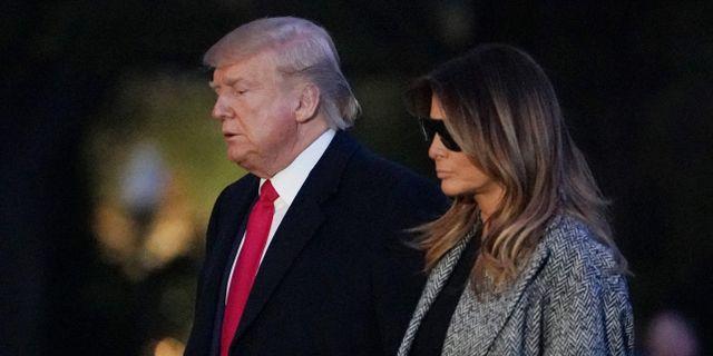 Donald och Melania Trump.  MANDEL NGAN / AFP