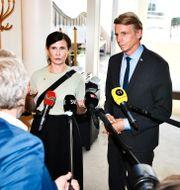 Märta Stenevi och Per Bolund. Claudio Bresciani/TT / TT NYHETSBYRÅN