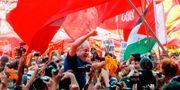 Lula da Silva med anhängare.  Andre Penner / TT / NTB Scanpix