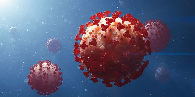Illustration på coronaviruset. Stefan Hörberg/Rithuset AB / TT NYHETSBYRÅN