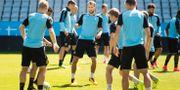 Malmö FFs Magnus Wolf Eikrem (mitten) under MFF träning inför Champions league-kvalet på Swedbank stadion. Emil Langvad/TT / TT NYHETSBYRÅN