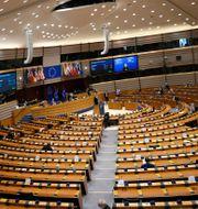 Illustrationsbild: Europaparlamentets sal i Bryssel.  Francisco Seco / TT NYHETSBYRÅN