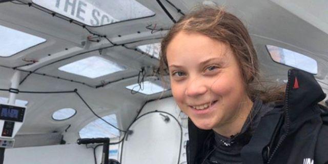 Thunberg ombord på Malizia II Greta Thunbergs Instagram
