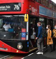 Buss i London.  Dominic Lipinski / TT NYHETSBYRÅN