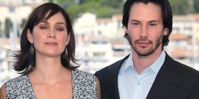 Carrie-Anne Moss och Keanu Reeves. FRANCOIS GUILLOT / AFP