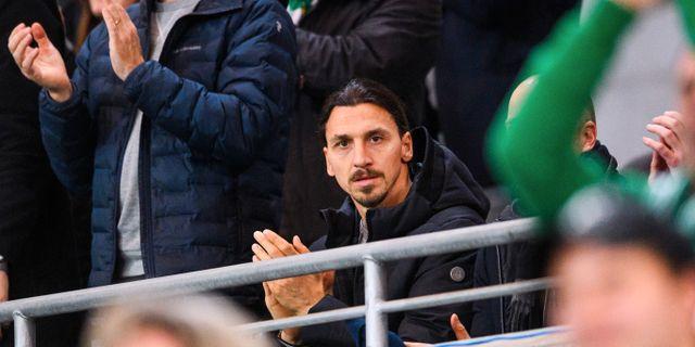 Zlatan Ibrahimovic, här under Svenska Cupen-mötet mellan Hammarby och Varberg i februari. MAXIM THORE / BILDBYRÅN