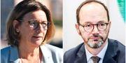 Isabella Lövin (MP) och Tomas Eneroth (S) TT