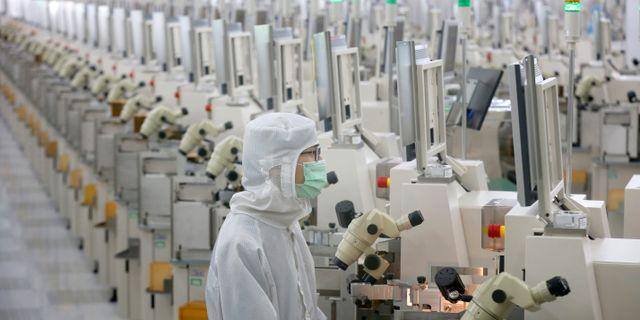 I fredags lyfte Kina tullar på viss mikroelektronik.  TT NYHETSBYRÅN