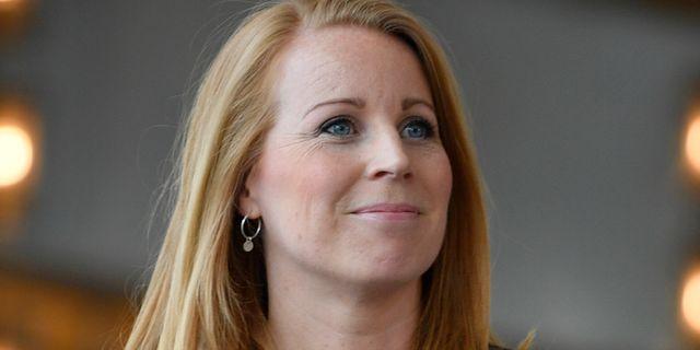 Annie Lööf efter dagens omröstning.  Anders Wiklund/TT / TT NYHETSBYRÅN