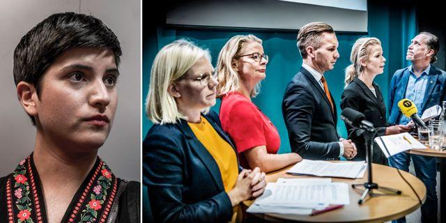 Sissela Nordling Blanco och Stockholms blågröna styre.  TT
