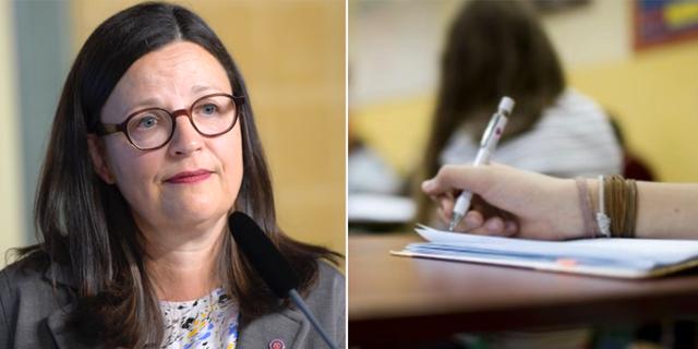 Utbildningsministern Anna Ekström (S). Arkivbilder. TT