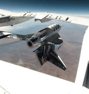 Illustrationsbild. Testflygning med Virgin Galactic. Virgin Galactic / TT NYHETSBYRÅN