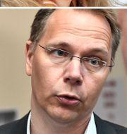 Förre vd:n Birgitta Bonnesen, Aktiespararnas Joacim Olsson, nuvarande vd Jens Henriksson och ordförande Göran Persson. TT