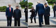 Donald Trump och Kim Jong-Un. AFP/TT