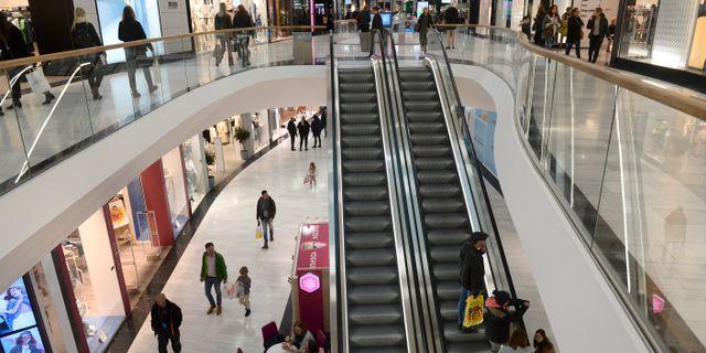 Shoppinggallerian Mall of Scandinavia i Stockholm. Fredrik Sandberg/TT / TT NYHETSBYRÅN
