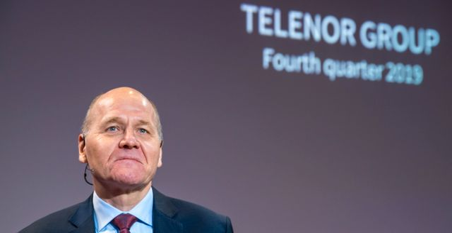 Telenors vd Sigve Brekke. Terje Pedersen / TT NYHETSBYRÅN
