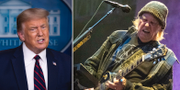 Donald Trump och Neil Young/Arkivbilder TT